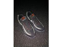 Grey/Orange Nike Air Max 95 Shoes - Size 7