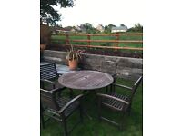 Garden Furniture Patio Set - 5 piece hardwood set with dining table and 4 chairs