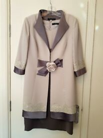 Mother of Bride/Groom dress & matching jacket with hat/fascinator & wrist corsage