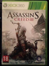 Assassins creed 3 X box 360 excellent condition