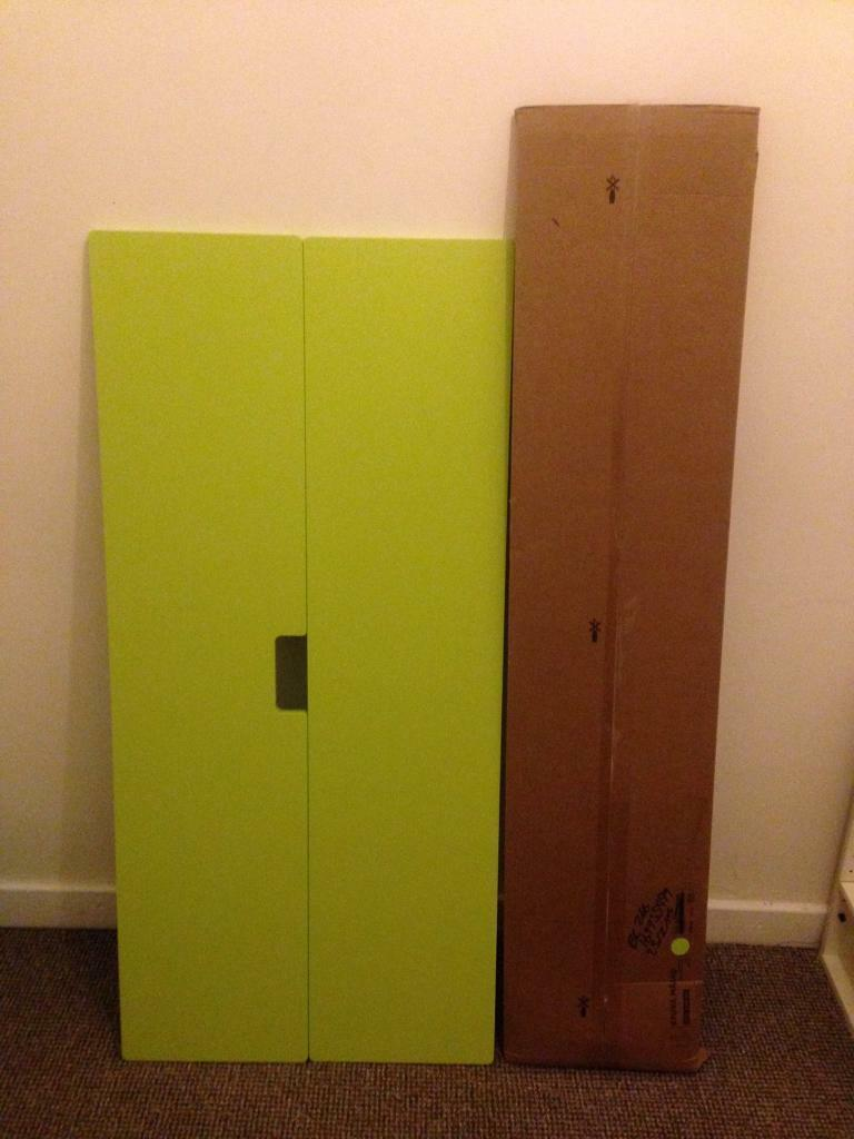 ikea kids wardrobe doors 2 sets lime green stuva malad in milngavie glasgow gumtree. Black Bedroom Furniture Sets. Home Design Ideas