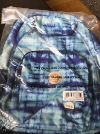 Roxy Backpack Shadow Swell Wmn Ocean Blue /White - original packaging and tags