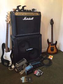 huge set up! jackson guitar almost new!