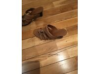 Tod's tan women's sandals. Size 5.5