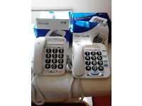 BT Telephones for the hard of hearing and seeing with box & instructions.