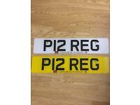 Personalised Registation Plate - P12 REG