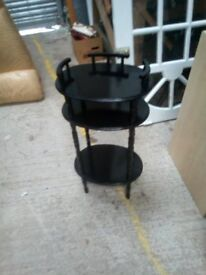 black hall table or stand