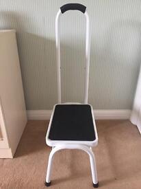 Step stool with hand rail
