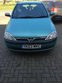 Corsa for sale 71,000 miles excellent first car