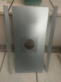 """Stove Register Plate - 450x980mm for 6"""" flue"""