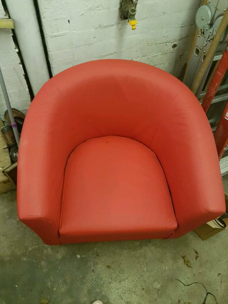 Leather look chair
