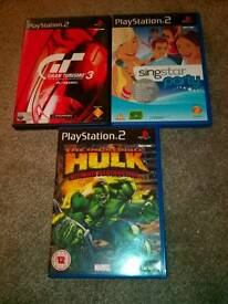 3 PlayStation 2 games . £5.00. Can Post.