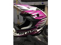 Junior wulf motorbike helmet and size 3 boots