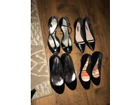 Four pairs of ladies shoes