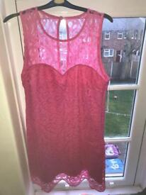 Pink Lipsy dress size 16