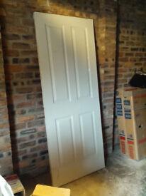 NEW UNUSED 4 PANEL WHITE INTERNAL DOOR 830MM X 2040MM