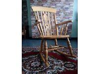 Handmade rocking chair ash wood
