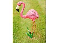 BRAND NEW Amazing Flamingo Metal Ornaments Large 77cm tall Retro