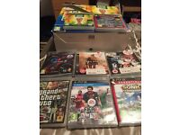 PS3 with controller and 6 games