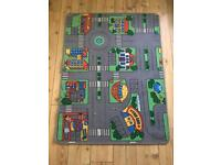 Child's play rugs for cars