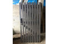 Solid wood refurbished/used Tall side gates with solid steel fittings