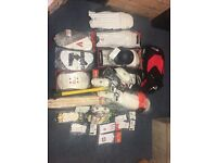 Cricket Wholesale Job Lot Includes Pads, Gloves, Helmet, Thigh Pads RRP £350