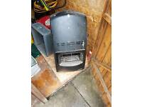 Gas heater with part full cylinder