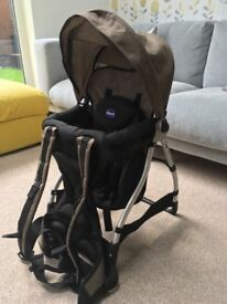 Chicco baby back walking carrier.