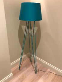 Made Teal Floor Lamp