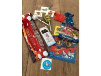 PRE MADE BOYS PARTY BAG with bow and thank-you sticker