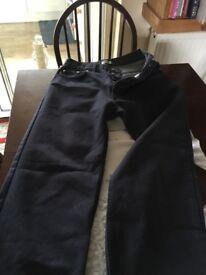 Moschino jeans straight leg, 28 inch waist
