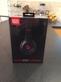 WIRELESS Beats Solo 2 Headphones(Black). Brand New, still in unopened box. SAVE £130
