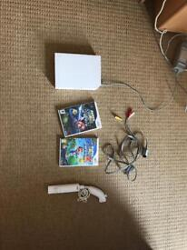 Nintendo Wii with Mario galaxy 1 and 2