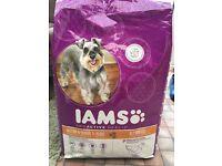 Two Iams senior dog food 12kg bags