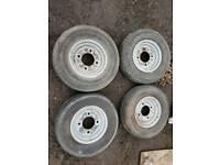 4x trailer wheels 145 R10 68S
