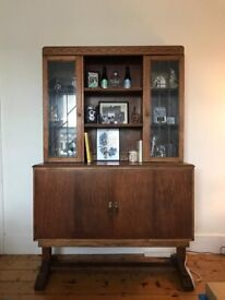 QUICK DELIVERY Gorgeous Antique Display Cabinet/Dresser on Cupboard Base (Great Storage)