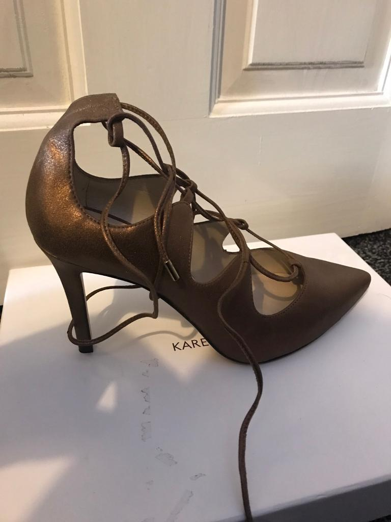 Karen Millen lace up court women's shoes NEW size 6