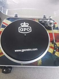 Gpo retro record turntable ( union jack )