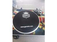 Gpo retro record turntable ( union jack )