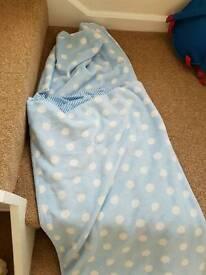 Small fleece sleeping bag