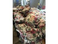 Bundle/Bedding set, curtains, pelmet, cushions