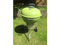 Weber charcoal BBQ 57cm - Lime green