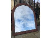 Vintage hall mirror with beautiful old foxed glass (reduced Price)
