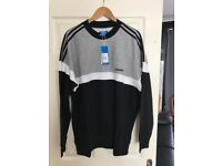 Mens Adidas itasca crew neck sweater with tags- size xl