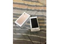 I phone 7 32GB gold in colour on o2 excellent condition with warranty