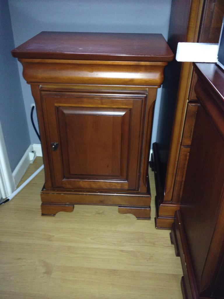 Olympus King size bed frame and two chest