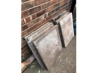 Concrete slabs free for collection only