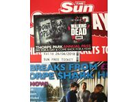 2x Tickets for Thorpe Park
