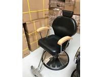 HEAVY DUTY BLACK HADI® UK BARBER CHAIR ,CASH ON COLLECTION ONLY uk new new