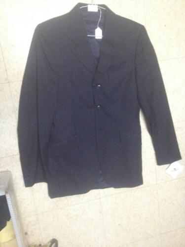 GRAND PRIX Hunt COAT *Mens 36T*  *Made in Canada *NEW* NAVY Tone on Tone Pin.